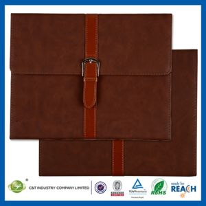 Button Design Wallet Leather Case for iPad pictures & photos