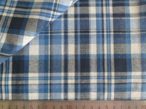 Blue/Navy/White/Charcoal Checks 125GSM 100% Cotton Yarn Dyed Fabric pictures & photos