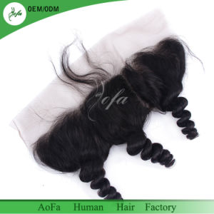 "8""-20"" Natural Color Brazilian Virgin Hair Frontal Closure pictures & photos"