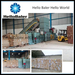 Horizontal Baler for Waste Paper with Conveyor for Sale pictures & photos