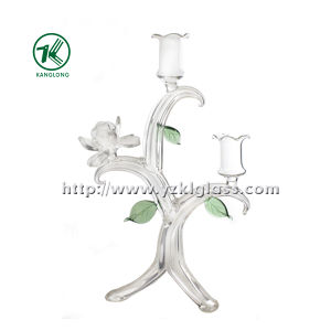 Glass Candle Holder for Holiday Decoration (22*14*32) pictures & photos