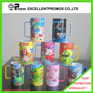 Printed Bright Colorful Plastic Mug for Promotional (EP-M9153) pictures & photos