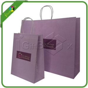 Printed Cloth Kraft Paper Shopping Bags pictures & photos