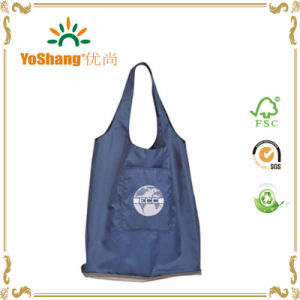 Promotional Silver Wallet Folding Shopper Nylon Tote Bags pictures & photos