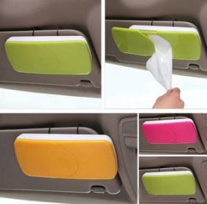 Custom Popular Fashion ABS Practical Plastic Car Tissue Box pictures & photos