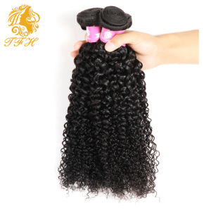 Malaysian Virgin Hair with Closure 7A Malaysian Curly Hair with Closure Virgin Human Hair 3 Bundles with Lace Closure pictures & photos