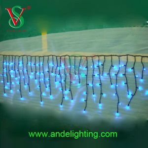 Different Color LED Icicle Curtain Light for Holiday Decoration pictures & photos