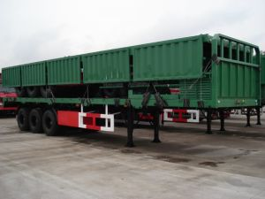 Wall Side Semi Trailer/ Drop Side Semi Trailer pictures & photos