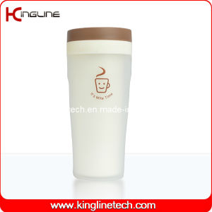 300ml Plastic Double Layer Cup Lanyard (KL-5023) pictures & photos