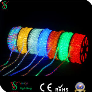 Colorful New Arrival Available Round 2 Wires LED Rope Light pictures & photos