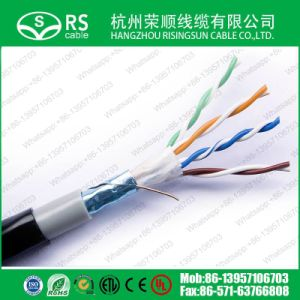 Cat5e FTP Outdoor Network LAN Cable with PVC+PE Jacket
