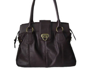 Burgundy Cowhide Leather Bag (DS071202)