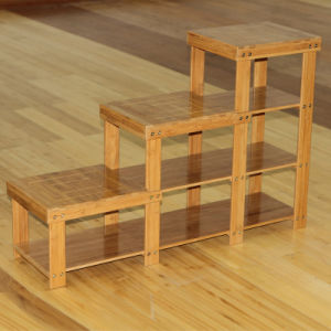 Bamboo Shelf Entrance Shelf Shoes Rack Stand Organizer pictures & photos