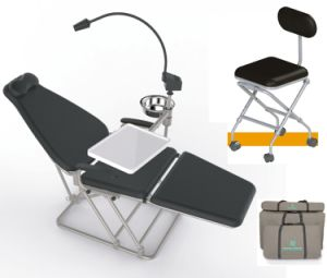 Portable Dental Chair with Stool and LED Light pictures & photos