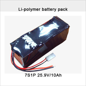 7s Li-Po Battery Pack 25.9V 10ah Li-Polymer Battery Pack pictures & photos