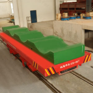 Battery Operated High Speed Motorized Transport Vehicle on Curved Rails for Transfer Cart pictures & photos