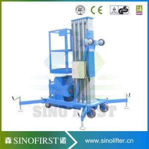 4m-12m Aluminum Alloy One Mast Lift Aerial Work Platform pictures & photos