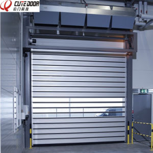 Security Insulated Heat Retaining Solid High Speed Roll up Door pictures & photos