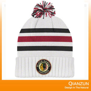 Custom Embroidery Acrylic Knitted Cap with Your Logo pictures & photos