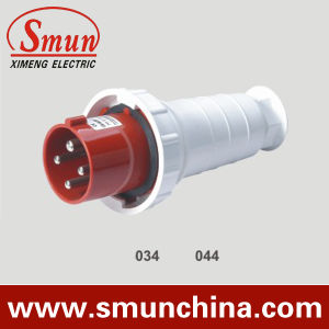 4pin 63A 380V Electrical Plug and Socket, Mobile Plug Waterproof IP67 Outdoor Plug pictures & photos