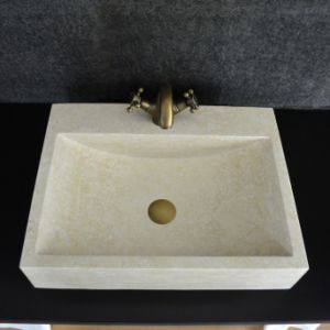 Beautiful Beige Marble Bathroom Vessel Sink pictures & photos