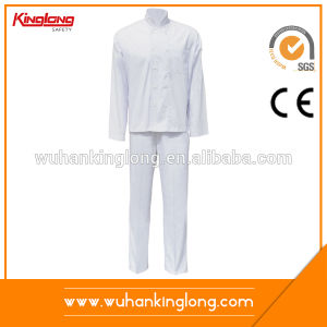 New 100%Cotton White Service Staff Chef Uniform Kintchen Uniform