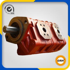 High Pressure Standard Hydraulic Displacement Double Gear Oil Pump pictures & photos