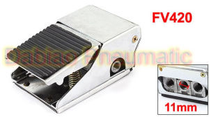1/4′′ Fv420 2 Position 5 Way Nonslip Metal Momentary Foot Operated Valve Switch