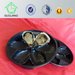China Manufacture Cheap Round&Rectangular Plastic Food Tray with 3 Compartments pictures & photos