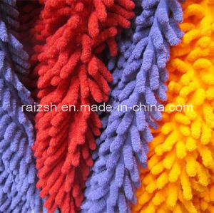 Polyester Microfiber Chenille Velvet Fabrics for Mop Water Absorbent Velvet pictures & photos