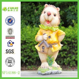 Garden Hedgehog Figures of Polyresin Decoration (NF14186-2)
