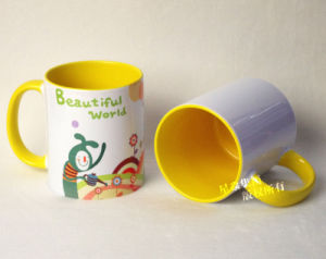 Yellow Photo Mug 11oz Inner & Rim Color Mug pictures & photos