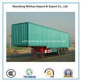 High Quality 3 Axles Box Truck Trailer of Semi Trailer pictures & photos
