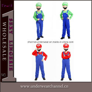 Hot Selling Deluxe Mario Children Jumpsuit Costume (TCQ023) pictures & photos