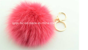 10cm Fox Fur Balls Keyrings Qy-236 pictures & photos