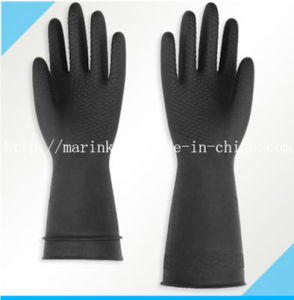 D-2 Flock Lined Light-Duty Natural Latex Rubber Glove pictures & photos