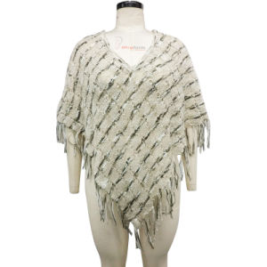 Ladies Knitted Stylish Poncho Fancy Sweater