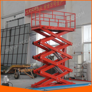 2000kg Hydraulic Electric Stationary Scissor Lift pictures & photos