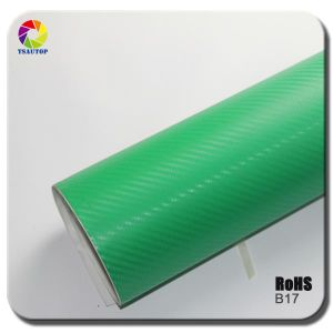 Tsautop 3D Carbon Fiber Vinyl for Car Wrapping& Green pictures & photos