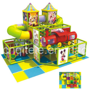 Indoor Playground with Slide and Tunnel (DIP-004) pictures & photos