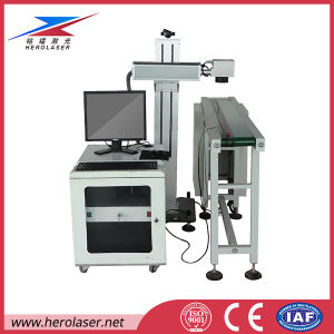 Water Bottle/ Food Packaging Bag Marking Machine Laser with Production Line pictures & photos