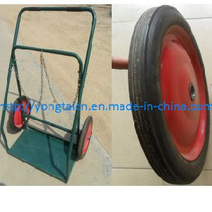 "Oxygen & Acetylene & Propane Cylinder Trolley/ Sack Truck /Portable Trolley/14""*1.75"" Solid Tyre Wheels pictures & photos"