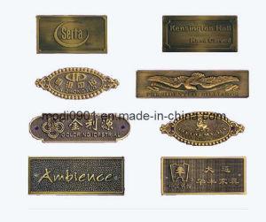 Aluminum Make Metal Logo with 3m Adhesive Tape Metal Label-Copper Label (KS-ML0324) pictures & photos