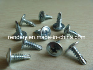 Pan Wafer Head Glvanized Self Drilling Screws pictures & photos