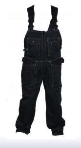 Solid Color Bib Pants/Work Bib Overall/Simple T/C Work Trousers