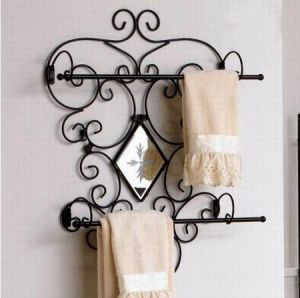 Bathroom Wrought Iron Towel Bar Lf0041