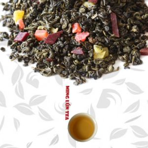Chinese Fruit Green Tea with Assorted Fruit Aroma (4 mixed Fruit) pictures & photos