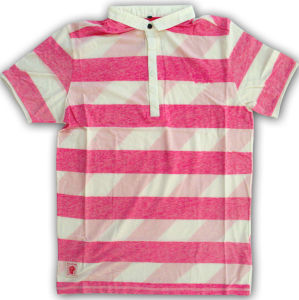 Polo Shirt / Yarn Dyed Melange Strips Polo