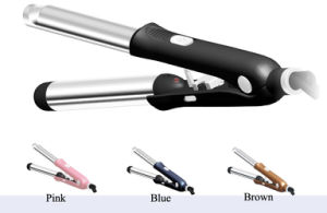 Professional Double Heating Hair Curling Iron (HLM-618C)