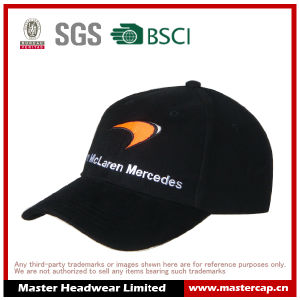 100% Cotton Black Flat Embroidery Spring/Autumn Baseball Cap pictures & photos